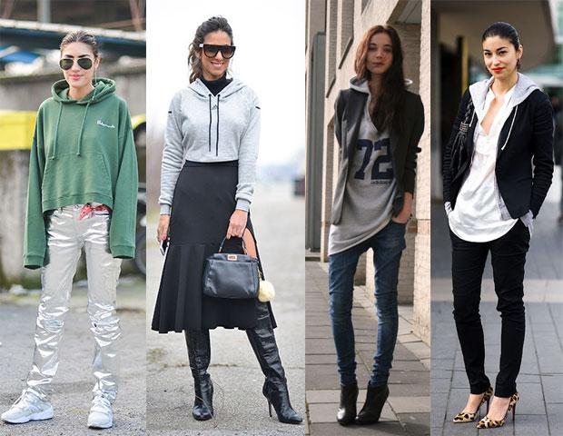 С чем носить худи женский